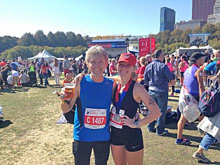 Andy and Shawna Chicago Marathon